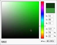 mooRainbow color picker
